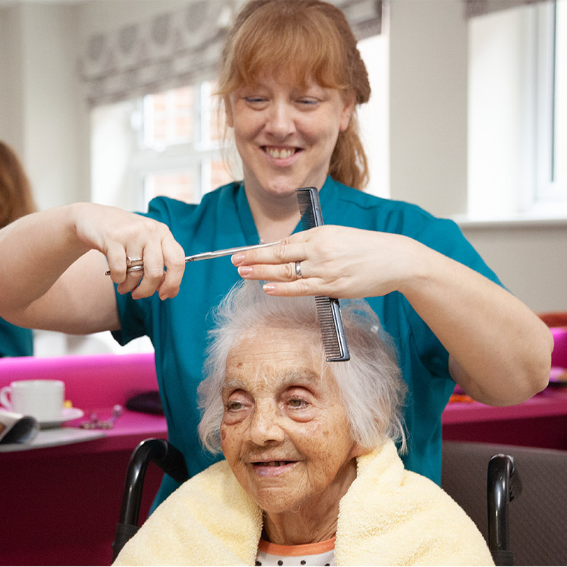 Personalised and enabling care at Priory Court Care home Epsom